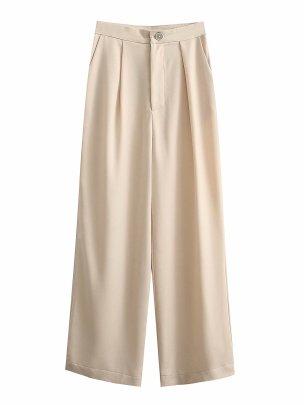 Spring High Waist Drape Wide Leg Pants Nihaostyles Wholesale Clothing NSAM82145