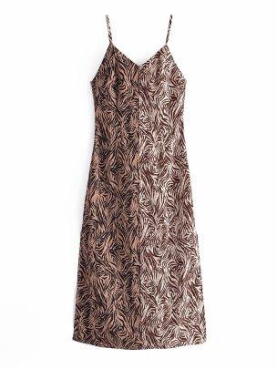 Women's Zebra Print Suspender Dress Nihaostyles Wholesale Clothing NSAM82150