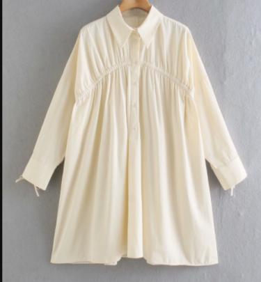 Autumn Women's Pleated Shirt Dress Nihaostyles Wholesale Clothing NSAM82061