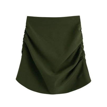 Autumn Pleated Mini Short Skirt Nihaostyles Wholesale Clothing NSAM82076