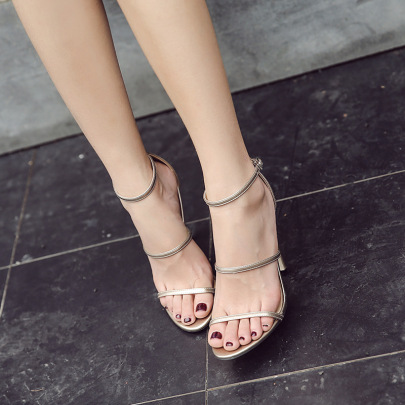 Thin Strap Stiletto Sandals Nihaostyles Wholesale Clothing NSSO82157