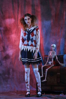 Halloween Cosplay Ghost Student Horror Zombie Dress Costume Nihaostyles Wholesale Clothing NSQHM82187