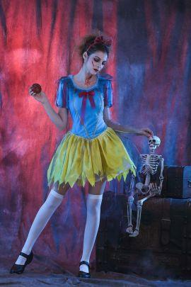 Halloween Cosplay Snow White Zombie Devil Dress Costume  Nihaostyles Wholesale Halloween Costumes NSQHM82190