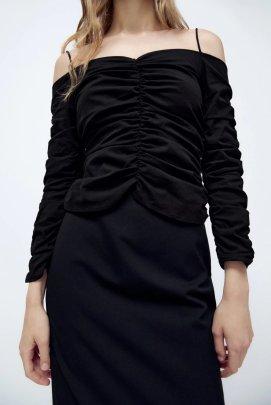 Off-shoulder Slim Folded Sling Top Nihaostyles Wholesale Clothing NSAM82194