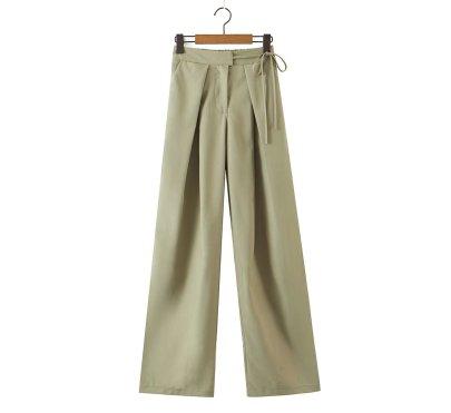 Autumn High Waist Strap Straight Wide-leg Pants Nihaostyles Wholesale Clothing NSAM82263