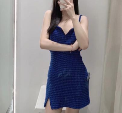 Autumn Square Collar Sling Short Dress Nihaostyles Wholesale Clothing NSAM82253