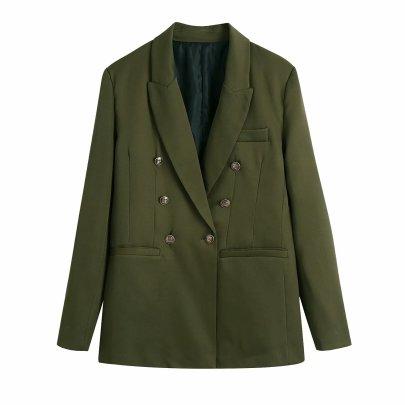 Autumn Breasted Slim Blazer Nihaostyles Wholesale Clothing NSAM82147