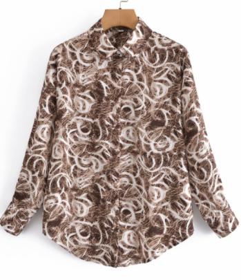 Print Lapel Shirt Nihaostyles Wholesale Clothing NSAM82151