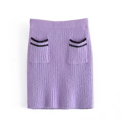 Mohair Pocket Knitted Skirt Nihaostyles Wholesale Clothing NSAM82264