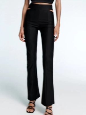 Autumn Hollow High Waist Micro-belled Pants Nihaostyles Wholesale Clothing NSAM82260