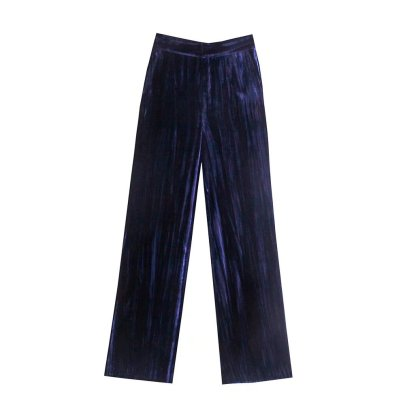 Winter Velvet Straight Wide-leg Suit Pants Nihaostyles Wholesale Clothing NSAM82257
