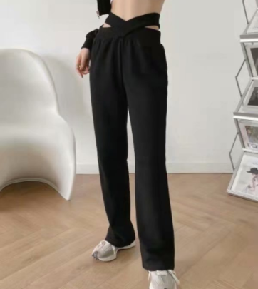 Autumn And Winter Hollow Casual Pants Nihaostyles Wholesale Clothing NSAM82240