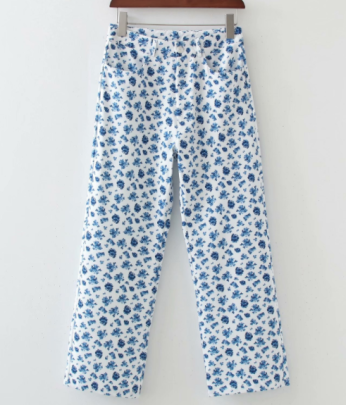 Print Straight Casual Pants Nihaostyles Wholesale Clothing NSAM82215
