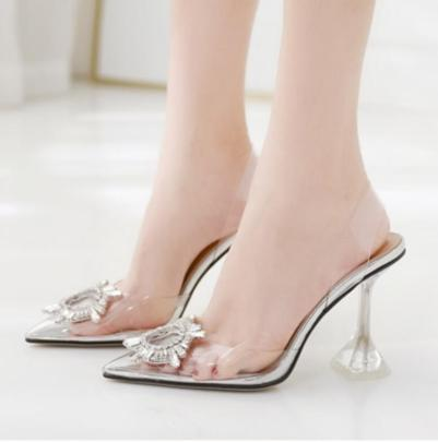 Pointed Toe High Heel Shallow Mouth Transparent Sandals Nihaostyles Wholesale Clothing NSSO82272