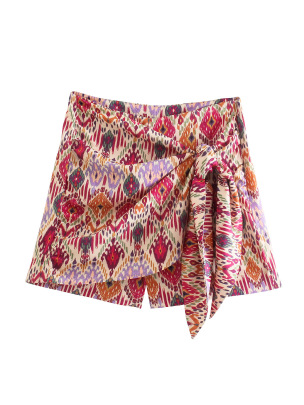 Women's Floral Print Lace Straight Pants Shorts Nihaostyles Wholesale Clothing NSAM82305
