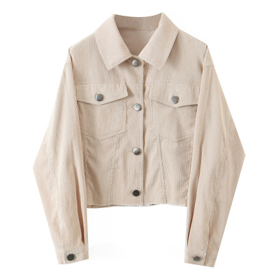 Lapel Solid Color Buttoned Jacket Nihaostyles Wholesale Clothing NSAM82310
