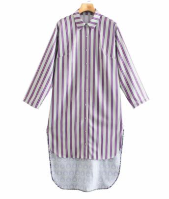 Digital Printing Front Short And Back Long Shirt Dress Nihaostyles Clothing Wholesale NSAM82629