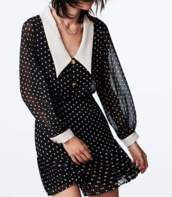 Polka-dot Long-sleeved Slim Printed Dress Nihaostyles Clothing Wholesale NSAM82351