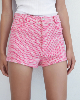 Pink High Waist Shorts Nihaostyles Wholesale Clothing NSAM82442