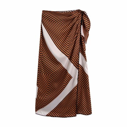 Straight Striped Sarong Skirt Nihaostyles Clothing Wholesale NSAM82608