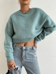 Round Neck Embroidery Drop Shoulder Casual Pullover Sweatershirt Nihaostyles Wholesale Clothing NSGMY82666