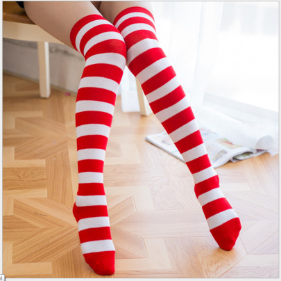 Mid-length Over-the-knee Striped Socks Nihaostyles Wholesale Christmas Costumes NSPIS82719