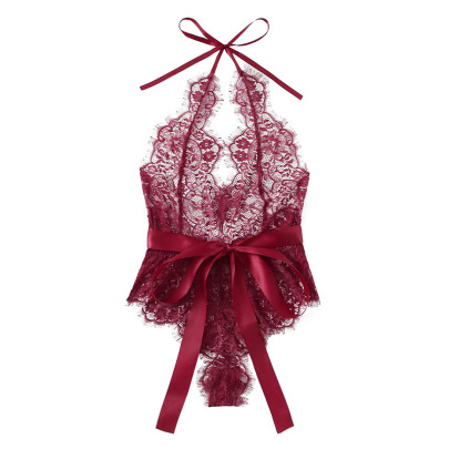 Lace Bow One-piece Lingerie Nihaostyles Clothing Wholesale NSFCY82747