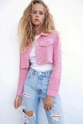 Autumn Texture Women's Short Coat Nihaostyles Wholesale Clothing NSAM82868