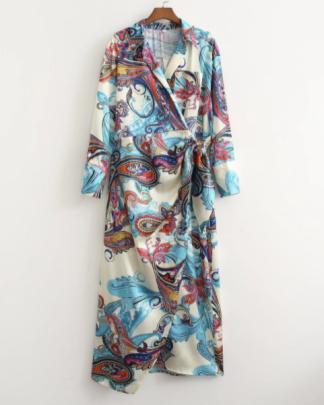Print Lapel Shirt Dress Nihaostyles Wholesale Clothing NSAM82850
