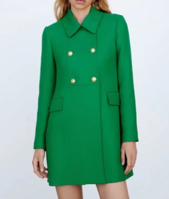 Solid Color Double-breasted Slim Lapel Coat Nihaostyles Wholesale Clothing NSAM82311