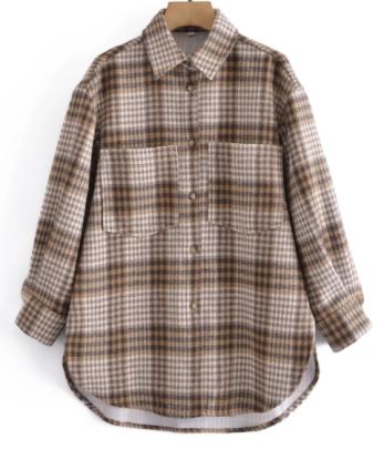 Retro Thickened Plaid Shirt Jacket Nihaostyles Wholesale Clothing NSAM82338