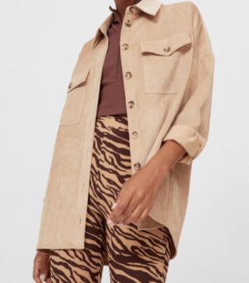 Autumn Corduroy Shirt Jacket Nihaostyles Wholesale Clothing NSAM82323