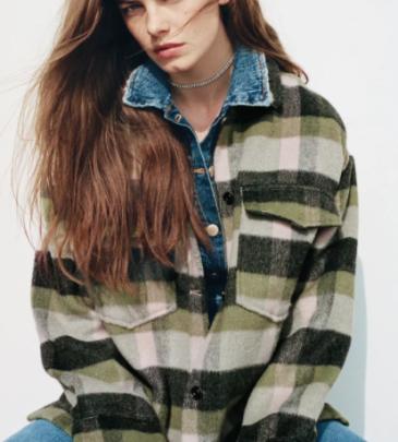 Autumn Plaid Woolen Jacket Nihaostyles Wholesale Clothing NSAM82327