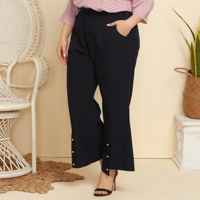 Plus Size Casual Wide Leg Pants   NSJR37072