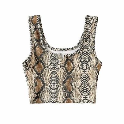 V-neck Printed Sling New Snake Print Vest  NSHS37637
