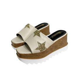 Star Pattern Thick-soled Wedges  NSHU40616