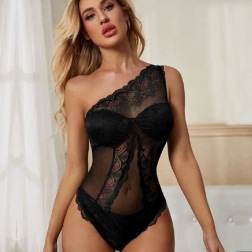 Lace Sexy Backless Strapless Sling Bodysuit NSWY42927