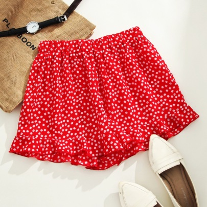 Floral Casual Large Size Loose Short Skirt  NSGHY43720