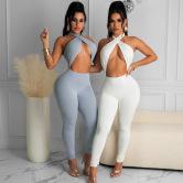 Pantalones De Color Sólido De Estilo Nuevo De Primavera NSMX43965