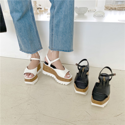 Open Toe Thick Ankle Strap Sandals NSHU45002