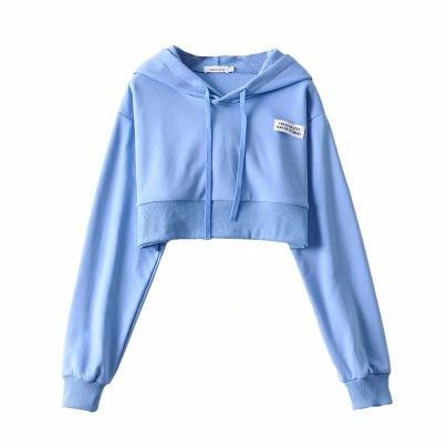 Short Long-sleeved Hooded Sweatshirt NSHS45059