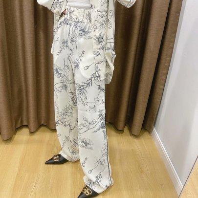 Spring Printed Casual Pants NSAM45462