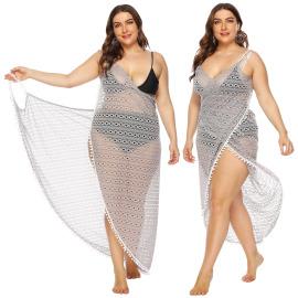 Large Size Lace Sexy Hollow Dress NSOY46078