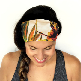 Sports Floral Decor Double-layer Headband NSOY46081