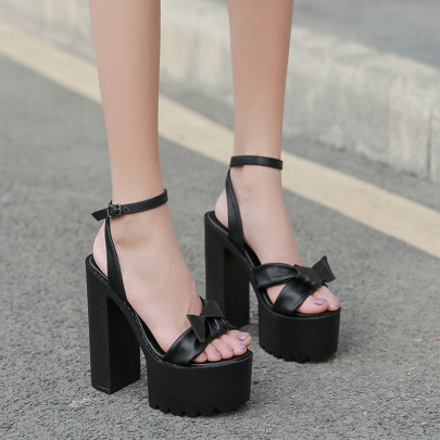 New Thick-heeled Waterproof Platform High-heeled Sandals NSHU39062