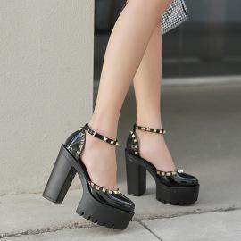 Summer New Thick Heel High Heel Sandals  NSHU39085