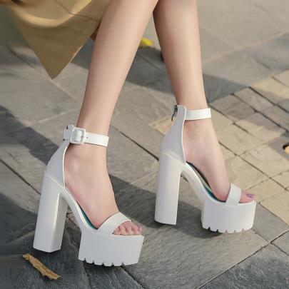 Super High Heel Waterproof Platform Simple Sandals  NSHU39101