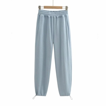 Elastic Waist Drawstring Sweatpants   NSHS46263