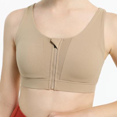 Cross Strap Zip Front Sports Underwear NSDS46476