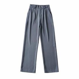 Elastic High Waist Draping Wide Leg Pants NSHS46593